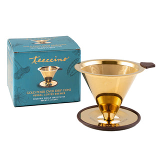 Teeccino Gold Pour Over</br>Drip Cone