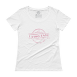 Living Easy® Faded Logo Womens Scoopneck Tee