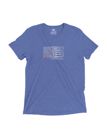 Living Easy American Flag Tee