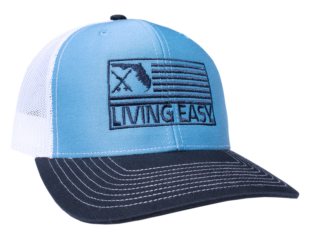 Living Easy® Florida Fish Flag Mesh Hat