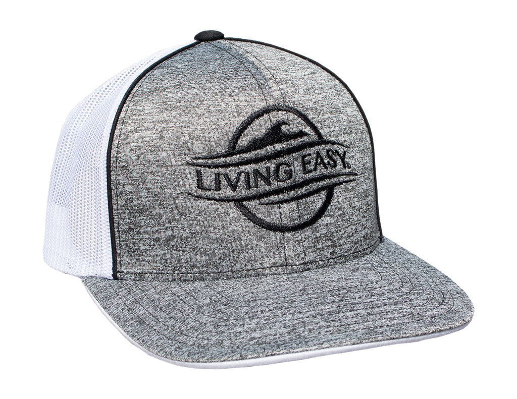 Logo Heather Black Mesh Hat