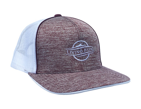 Logo Heather Maroon Mesh Hat