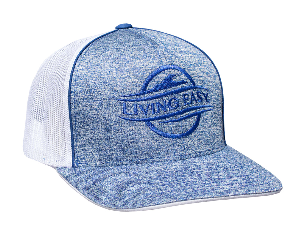 Logo Heather Blue Mesh Hat
