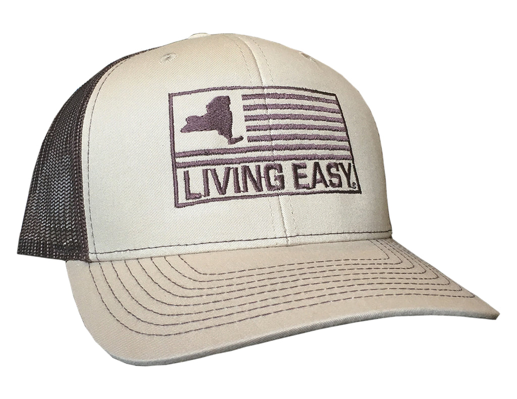 Living Easy® New York Flag Mesh Snapback Hat