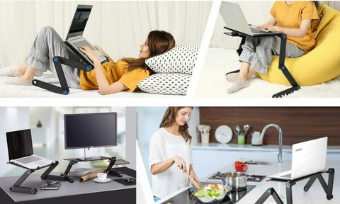 360 degree adjustable notebook Desk with tray Table free shipping 1