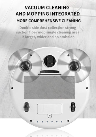 Dual brush automatic robot vacuum cleaner with UV disinfectant