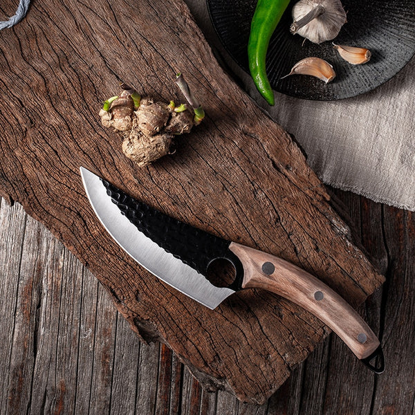The One™ Knife - Stylish Ergonomic Butcher Knife for Kitchen or Outdoor Use, Stainless Steel