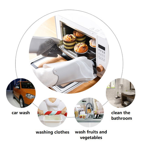applications of the multi function cleaning sponge gloves