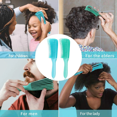 detangling brush for frizzy and curly hair and beard