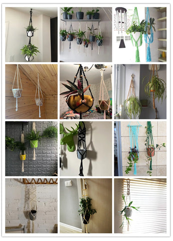 dual decorative indoor outdoor plant hangers
