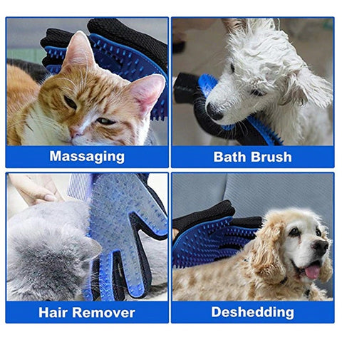 easy dog and cat fur removal hand brush gloves washable