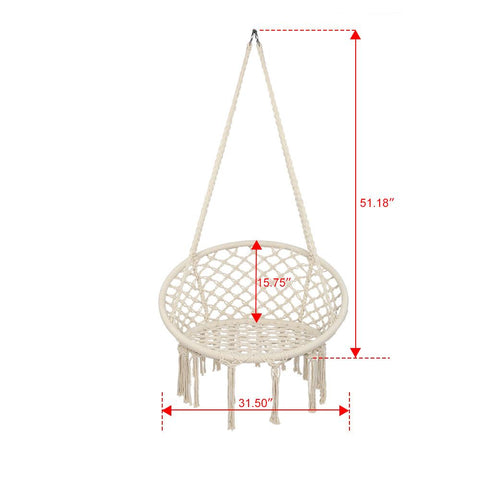 medium large portable cotton hammock chair for patio and outdoors dimensions and size