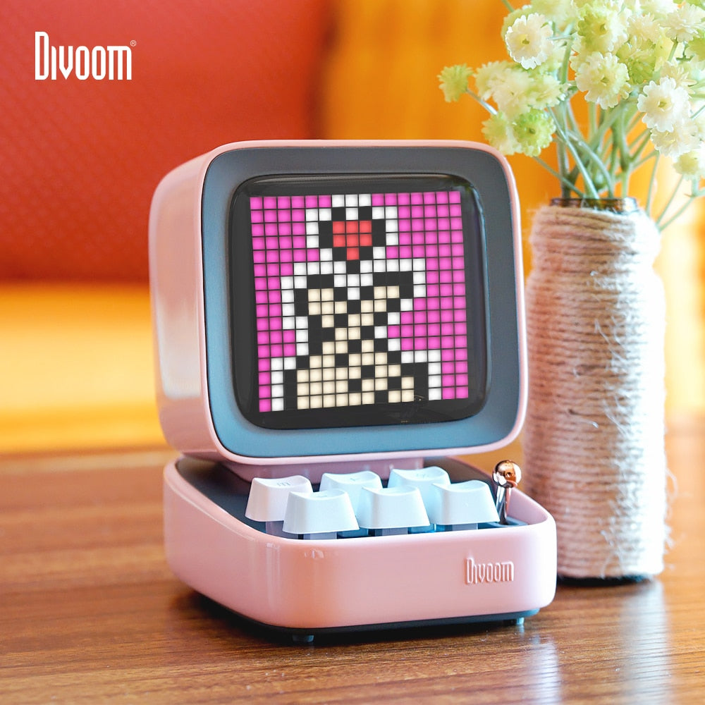 Divoom® Ditoo LED Pixel Art Bluetooth Portable Speaker Alarm Clock DIY LED Display Board, Home Light Decoration - CharmingWares