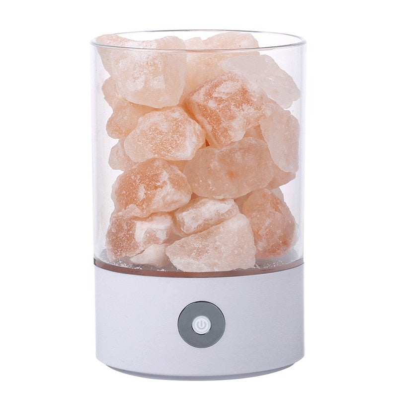 Himalayeah™ Salt Rock Crystal Lamp - Relaxing Room Ionizer & Light - CharmingWares
