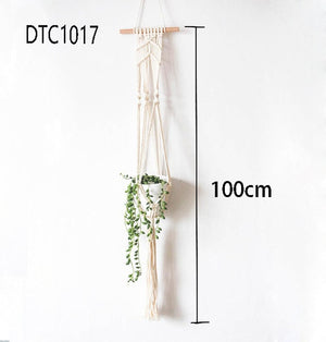 100% Handmade Cotton Macrame Plant Hangers and Flower Pot Holders - CharmingWares