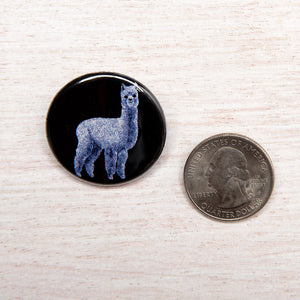 Alpaca Button-Counter Couture
