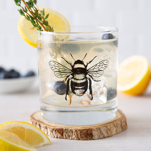 Bumble Bee Rocks Glass-Counter Couture