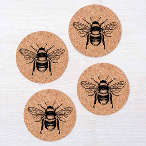 Bee Cork Coasters-Counter Couture