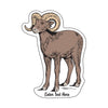 Sticker - Bighorn Sheep (S-ND-bighorn sheep)