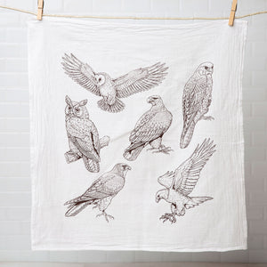 Birds of Prey Tea Towel-Counter Couture