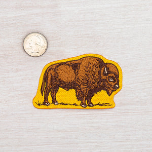 Bison Iron On Patch-Counter Couture