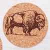 Bison Cork Coaster-Counter Couture