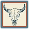 Buffalo Skull Badge Sticker
