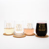 Cats Stemless Wine Glass-Counter Couture