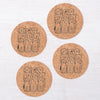 Dogs Cork Coasters-Counter Couture