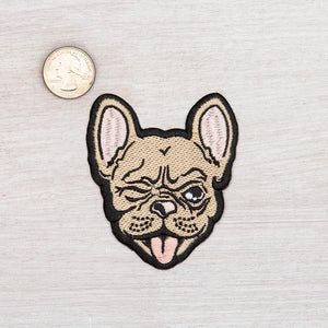 French Bulldog Iron On Patch-Counter Couture
