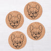 Frenchie Cork Coasters-Counter Couture