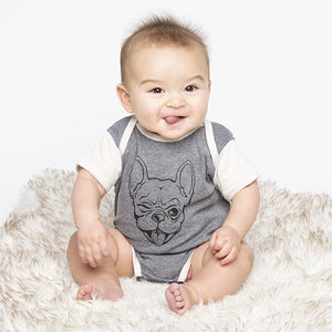 Frenchie Baby Bodysuit-Baby-Counter Couture