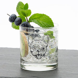 Frenchie Rocks Glass-Counter Couture