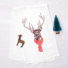Deer Holiday Flour Sack Towel-Counter Couture
