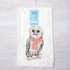 Holiday Owl Flour Sack Towel-Counter Couture