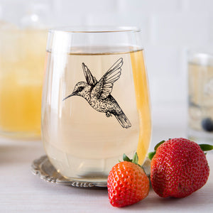 Hummingbird Wine Glass-Counter Couture