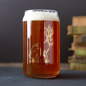 Jackalope Can Glass - Gold-Counter Couture