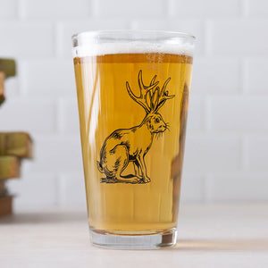 Jackalope Pint Glass-Counter Couture