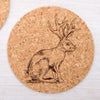 Jackalope Cork Coasters-Counter Couture