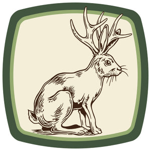 Jackalope Badge Sticker-Counter Couture