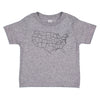Toddler Map T-shirt -  Heather Grey