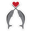 Narwhals in Love Sticker