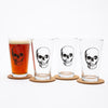 Skull Pint Glass-Counter Couture