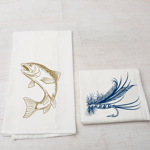 Trout and Lure Towel-Counter Couture