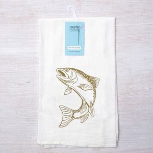Trout Tea Towel-Counter Couture