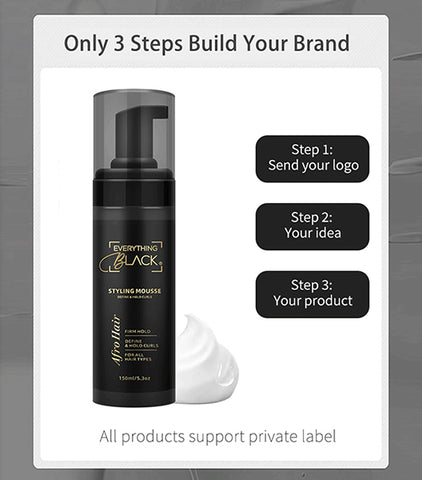 Custom Logo Non Sticky Hair Mousse For Curling Hair Defining