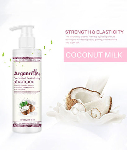 Private Label Smoothing Detangling Coconut Vegan Shampoo And Conditioner For Afro Hair