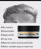 Private Label Best Lightweight Water Based Matte Cream Flexible Hold Texturizing Natural Matte Look Hair Clay For Men