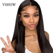 32 Inches Straight 4X4 Lace Closure Human Hair Wig