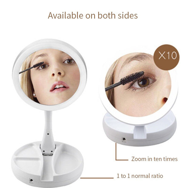 Foldable Costway Makeup Mirror